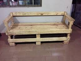 Rustic Bench Outdoor Furniture Made From Wood Pallets