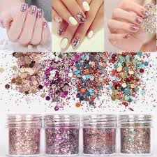 Nail Art Glitter Dust Powder Sequins Tips 3D Manicure Decoration ...