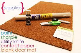 Image Outdoor Door Mats The Sits Girls Easy Project For Summer Diy Personalized Door Mats