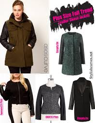 plus size fall trends leather sleeve jackets