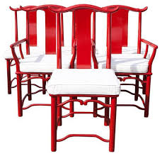 red asian style dining chairs set of 6 asian dining chairs asian style furniture asian