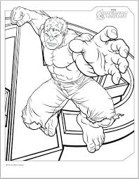 Avengers Hulk Coloring Page Coloring Avengers Hulk Coloring Page