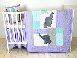 lavender and gray nursery bedding baby quilt elephant blanket teal purple crib safari