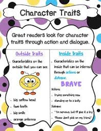 Character Traits Anchor Chart Analyzing Characters The Preacher Lessons Tes Teach