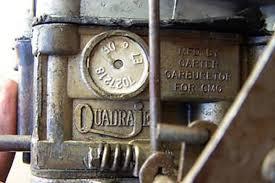 Choose Your Quadrajet Number Identification Guide
