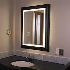 Lighted Bath Vanity Mirrors Bathroom Mirror Lighted Frame Bathroom Mirrors And Wall