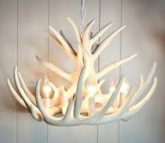 good looking pottery barn faux antler table lamp