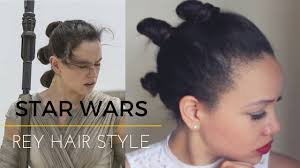 Rey Hair Style tri bun space hair star wars hairstyle youtube 6970 by wearticles.com