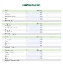 vacation budget template travel expense calculator template employee expense report