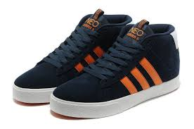 adidas shoes high tops for men. adidas campus neo series high tops casual shoes mens deep-blue orange easy travelling for men