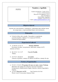 Famous Formato Curriculum Vitae Filetype Doc Gallery Example