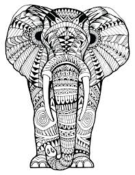 Elephant Mandala Coloring Pages Free Awesome The For Adults Easy