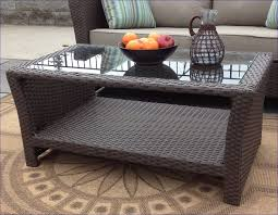 round wicker coffee table with glass top sanibel outdoor wicker coffee table with glass