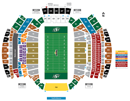 Gopher Hockey Seating Chart Official Seating Map Saskatchewan Roughriders