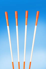 10 reflective driveway markers orange snow plow stakes 48 inches long 5 16 thick