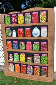 27 best canning jar quilt images on Pinterest | Canning jars ... & Folk Art Quilt Lap Size Country Canning by TrueloveQuiltsForYou Adamdwight.com