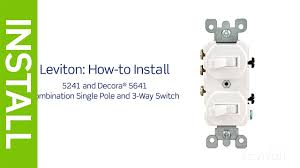 leviton presents how to install a combination device with at light switch hot wire top or bottom at Single Switch Wiring
