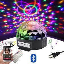 9 renk RGB LED disko topu ışık Bluetooth MP3 müzik çalar ev partisi DJ dans  pisti Strobe sahne lazer projektör lambası|Stage Lighting Effect
