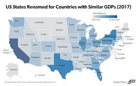This Map Compares The Size Of State Economies With Entire