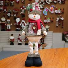 Рождественские украшения, кукла Санта-Клауса, снеговик, лось ...