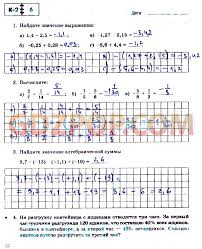 ГДЗ контрольные работы по математике класс Зубарева Лепешонкова  Страница 4 5 6 7 8 9 10 11 12 13 14 15 18