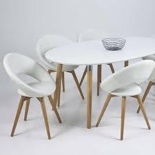 Neu Esstisch Belini Tischplatte Oval Holz Weiß Lackiert Luxus Von