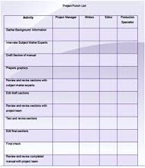 Punch List Template – Voipersracing.co