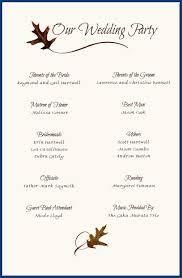Wedding Reception Program Templates