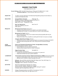 6 Mechanical Engineering Intern Resume Resume Cover Note