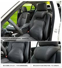 car lumbar support space cotton genuine leather memory foam rest cushion lumbar pillow car seat cushion car accessories interior seat cushions for trucks
