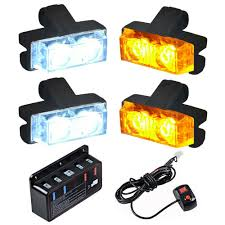 Car Emergency Warning Lights Details About 16 Led Car Truck Strobe Emergency Warning Lights For Deck Dash Grill White Amber