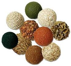 Decorative Balls For Bowls Enchanting Pkg Of 32 Dried Natural Botanical Decorative Mini Balls Vase