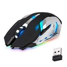 Buy TSV Rechargeable X70/M70 2.4GHz 7 Color LED Backlit Bluetooth Wireless  USB Optical Gaming Mouse Mice with Nano USB Receiver, Adjustable DPI for  Computer Laptop Gamer Online in Turkey. 129032302