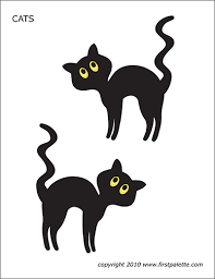 Cats are the most popular pets in the world after the fishes, but before the dogs. Halloween Cats Free Printable Templates Coloring Pages Firstpalette Com