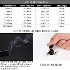 Belt Size 110 Chart Cetiri Mens Belts Designer Belts Men High Quality Cow Genuine Leather Automatic Buckles Ratchet Belts For Men Brown 110 140 Cm