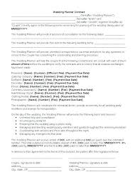 Party Planner Contracts Event Planner Sample Contract Event