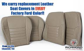 ford factory seat cover replacement fresh 99 04 mustang gt driver bottom perforated replacement leather