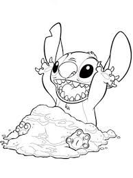 Lilo And Stitch Coloring Pages Simple For Adults Desenhos Para