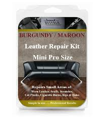 burgundy maroon mini pro leather repair