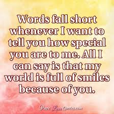Special Love Quotes Extraordinary Words Fall Short Whenever I Want To Tell You How Special You Are To