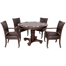 Game Table And Chairs Set Hathaway Games Bridgeport 2 In 1 Poker Game Table Set Reviews
