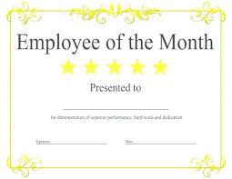 Employee Appreciation Certificate Template Free Free Employee