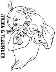 Small Picture Ariel and flounder coloring pages timeless miraclecom