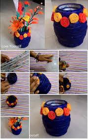 News Paper Flower Vase How To Make Newspaper Flower Vase Usefuldiy Com