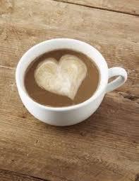 coffee love heart. Modren Love Foamy Heart On A Creamy Cup Of Coffee In Coffee Love Heart
