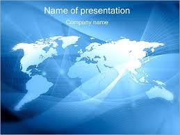 Powerpoint World Abstract World Map Powerpoint Template Infographics Slides