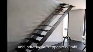 Die richtige höhe für den anfang finden. Individuelle Treppen Aus Stahl Exklusive Stahltreppen Youtube