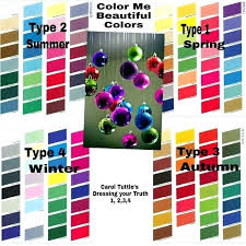 Color Me Beautiful Spring Color Chart Color Me Beautiful Colors Carol Type Winter White Chart In