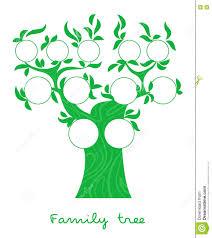 Genealogy Charts Crossword Family Tree Thin Line Style Vector Stock Vector