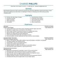 Entry Level Mechanic Resume Examples Created By Pros Myperfectresume